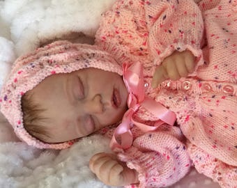 Cute Little Reborn Baby Girl Doll Cozy (a Linda K Smith Sculpt)
