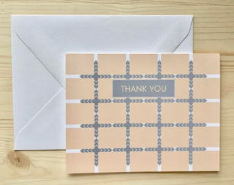Be squared In Thank You Card