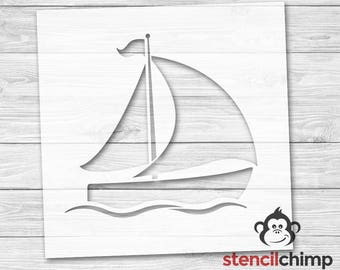 DIY Art Stencil - Sailboat Stencil