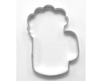 "Beer Cookie Cutter Beer Mug Cookie Cutter Foamy Cookie Cutter Foamy Mug Cookie Cutter Root Beer Float Cookie Cutter 3.5"" RM-832"