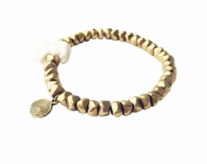 Gold Elephant Bracelet, Beaded Elephant Bracelet, Beaded Bracelet, Elephant Bracelet, Elephant Charm Bracelet, Gold Bracelet, Boho Bracelet