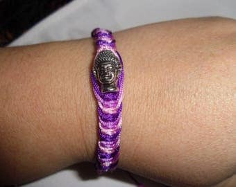 Fuchsia to pink gradient shamballa bracelet