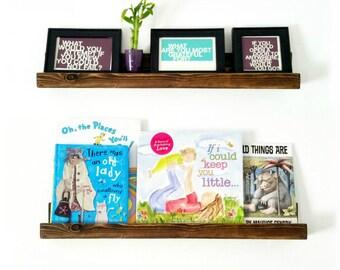 Picture Ledge Shelf | Floating Shelves | farmhouse decor | Floating shelf | Rustic shelf decor
