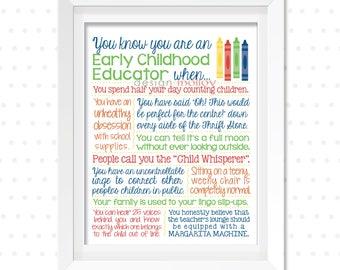 Teacher Appreciation Gift - Preschool Teacher Gift - Preschool Teacher Thank You - Teacher's Assistant - Teacher's Aide - Teacher Thank You