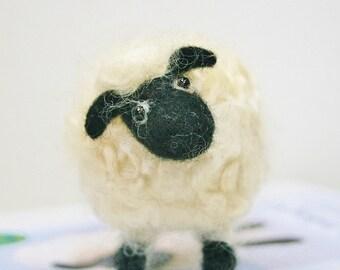 Sheep felting kit/Beginner's needle felting kit /Mother's Day gift/Needle felting tutorial