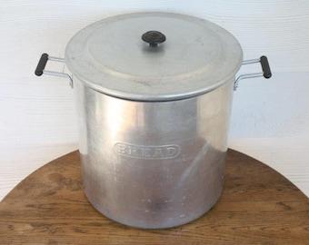 Aluminium Bread Bin/ Bread Canister ~ Vintage Kitchen Storage Tin 1960s Mid-Century Kitchenalia