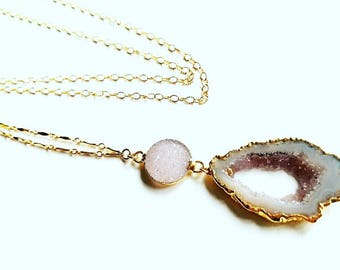 Druzy & Agate Necklace