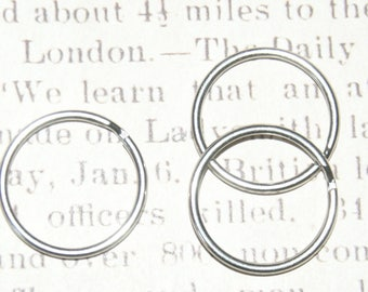 3 double metal Keychain rings 25mm round