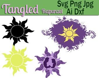 Tangled SVG, Rapunzel Silhouette, Rapunzel svg,Tangled Silhouette,Tangled cricut,Tangled dxf, svg,Tangled cut file,Rapunzel dxf,Tangled viny