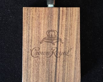 Crown Royal Viski Rosewood and Stainless Steel 3oz Flask