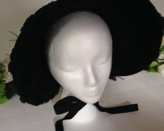 Black Victorian Mourning Bonnet