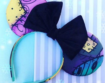 SALLY STITCHES - nightmare before christmas inspired minnie ears