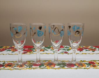 Federal Amoeba Champagne Flutes Set x4