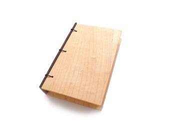 Maple Journal Wooden Notebook Wooden Wedding Guestbook Wood Journal Engraved Notebook Wooden Sketchbook Custom Journal Travel Notebook