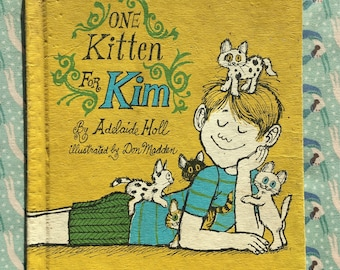 Vintage Kids Book   One Kitten for Kim by Adelaide Holl   Kids Picture Book