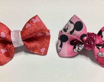 Valentine Love Magic Band Bow Bows Mickey Minnie Gift Party