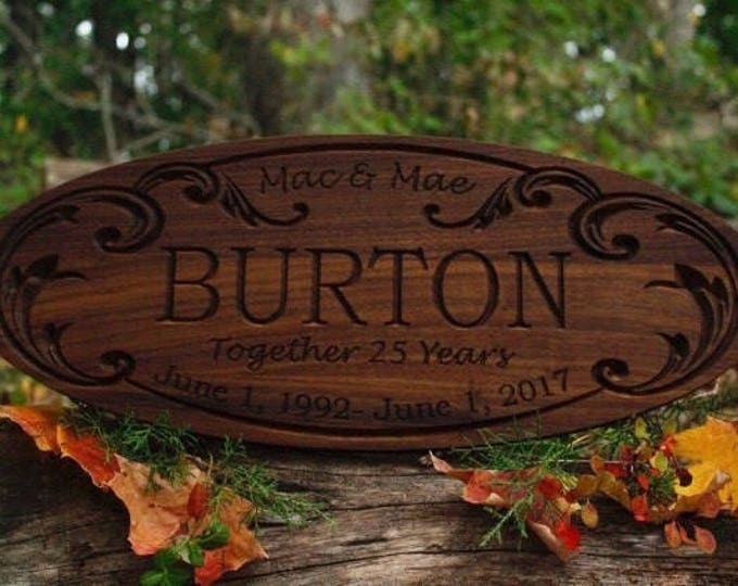 Parents Anniversary Gift Couples 5 10 15 Year 40 50th Year Anniversary Wedding 20th Anniversary 25th Wood 5 Year Anniversary Gift Couples