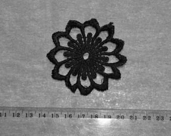 1 black guipure lace applique pattern