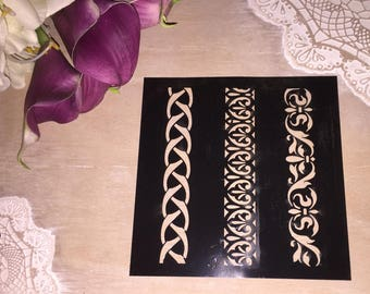 For crafting fine stencil painting Model arabesque border