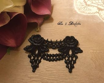PIN fastener behind Black Lace weddings * 3 lace *.
