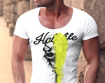 Men's T-shirt Half-life Skull Tank Top MD811