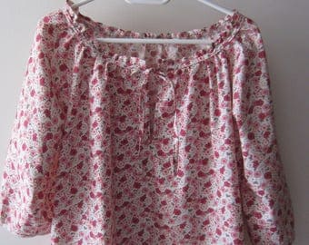 blouse(overall) woman handmade Japanese cotton Voile