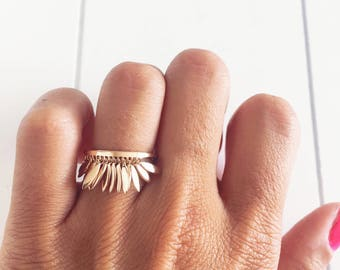 Ring pendants, ring gold plated charms 750/000 - gold plated ring