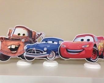 Disney Cars Centerpieces, Disney Cars Birthday Centerpieces, Disney CARS 3 Centerpieces