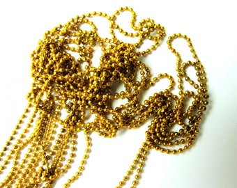 EXTRA FINE JEWELRY GOLD BALL CHAIN 1 MM 30 CMS 30CMS