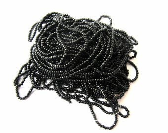 TASSEL 12 SON MINI 0.5 MM OLD ROUND FACETED BEADS