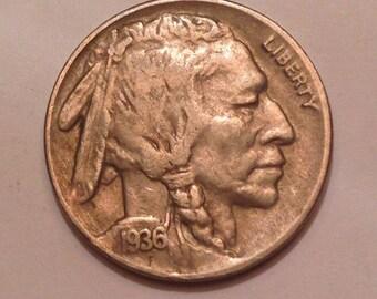 1936-D Buffalo Nickel