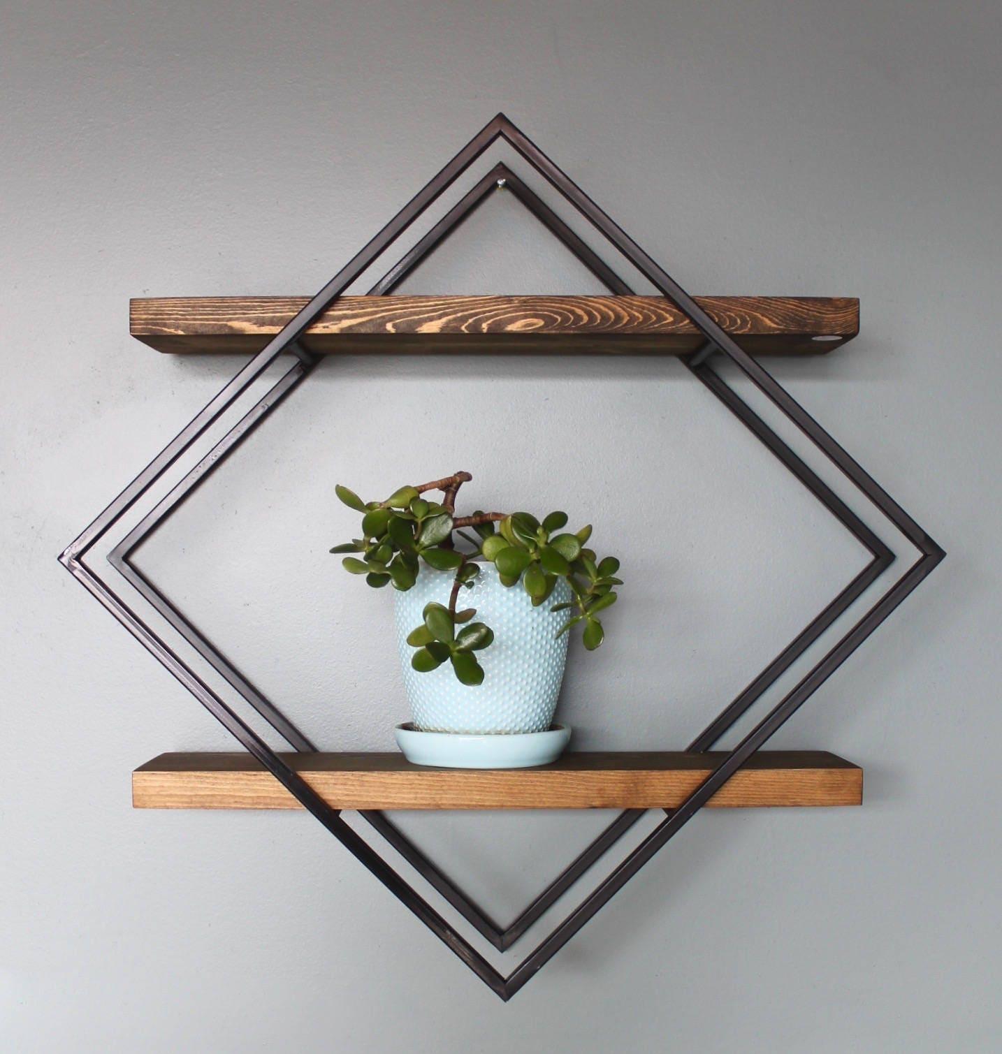 Modern Shelf Geometric Shelves Modern Shelving Unit Modern