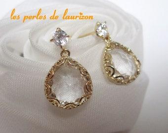 glittering gold earrings