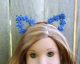 Cat Ear Headband *BLUE* for American Girl Dolls