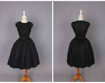 Clarence Dress in Solid Raven Black