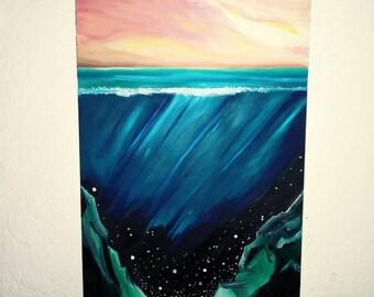 Underwater Stars Oil Painting