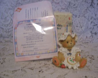 Cherished Teddies JENNA  Figurine with Box and Certificate