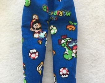 Christmas Shelf Clothes Super Mario World Blue Pants for Boy or Girl 12 inch Elf or Pixie