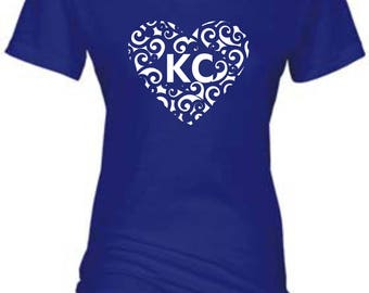 KC Swirl Heart Crewneck Shirt