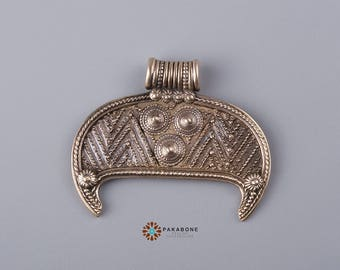 Lunula Lunitsa Lunette Viking & Slavic Women Amulet Solid Bronze 000-758