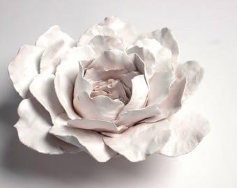 White Ceramic Flower Centerpiece