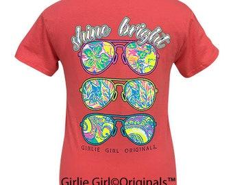 Girlie Girl Originals Shine Bright Coral Silk Short Sleeve T-Shirt