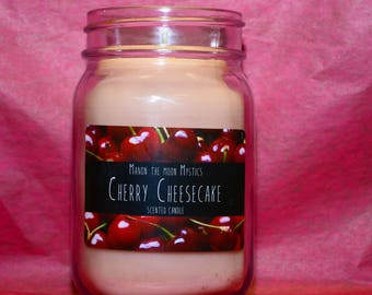 Cherry cheesecake scented candle