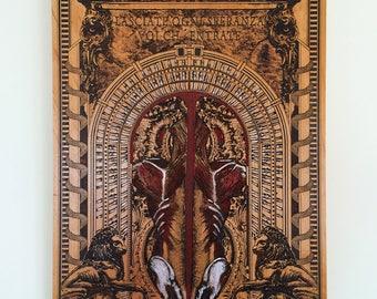 Gothic Art, Horror Decor, Occult Art, Dark Art Oddities, Macabre Art, Mens Gift for Man Cave Wall Decor, Man Cave Art, Man Cave Decor
