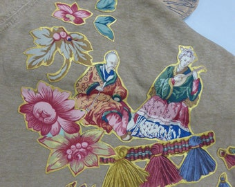 Gold sweater short sleeve customized - baroque Oriental perfume