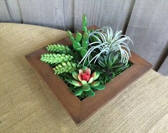 Faux Succulent arrangement/ succulent arrangement/ coffee table arrangement/ arrangement/ modern arrangement/ centerpiece/ succulent decor