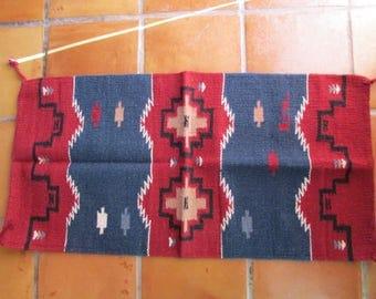 Navajo Indian Designed Wool Rug 20 x 40