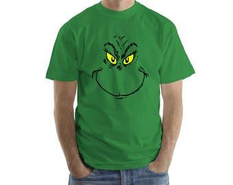 Grinch,  Shirt Stamp, Custom Shirt, T-shirt stamp, Personal Shirt, Heat Transfer Vinyl, Funny Chtristmass Shirts