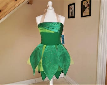 Adult Halloween Tinkerbell Fairy Inspired Costume,Tinkerbelle dress ,tinkerbelle cosplay