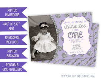 Comics Birthday Invitation Pink Superhero Birthday - 1st birthday invitations girl purple